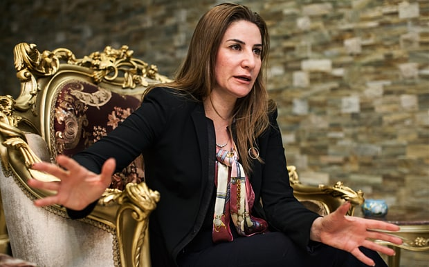 Vian Dakhil at her family home in Erbil. Photo Holly Pickett, The Telegraph
